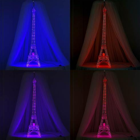"57"" Color Changing LED Metal Eiffel Tower Wedding Event Party Columns - 1PCS"