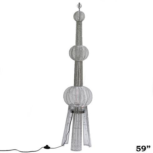 "59"" 150 LED Oriental Pearl Tower Wedding Aisle Prop Event Party Columns - 1PCS"