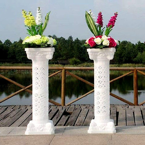 "4 PCS Height Adjustable Artistic Roman Wedding Columns Plant Stand -  41"" Tall"
