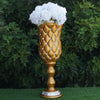 "24"" Tall Crystal Beaded Gold Wedding French Columns With Mirror Mosaic Party Event Decoration - 6PCS"
