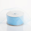 "1.5"" x 25 Yards Sheer Organza Ribbon - Baby Blue"