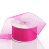 "1.5"" x 25 Yards Sheer Organza Ribbon - Fuchsia"