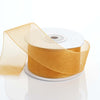 "1.5"" x 25 Yards Sheer Organza Ribbon - Gold"