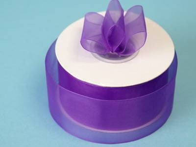 "25 Yard 1.5"" DIY Purple Organza Ribbon With Satin Edges For Craft Dress Wedding"