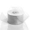 "1.5"" x 25 Yards Sheer Organza Ribbon - Silver"