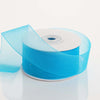 "1.5"" x 25 Yards Sheer Organza Ribbon - Turquoise"