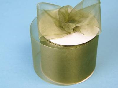 "2 3/4"" Organza Ribbon-Willow Green"