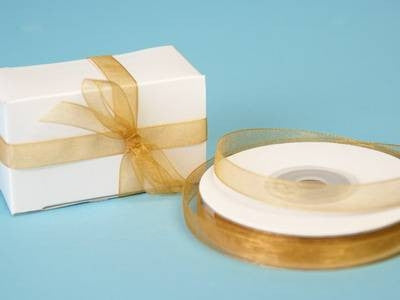 "3/8"" Organza Ribbon-Gold"
