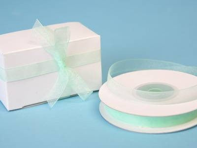 "3/8"" Organza Ribbon-Mint"