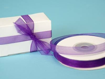 "3/8"" Organza Ribbon-Purple"
