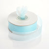"7/8"" x 25 Yards Sheer Organza Ribbon - Baby Blue"