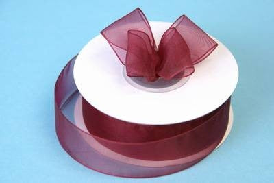 "7/8"" Organza Ribbon-Burgundy"