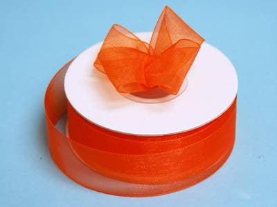 "7/8"" Organza Ribbon-Coral Orange"