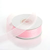 "7/8"" x 25 Yards Sheer Organza Ribbon - Pink"