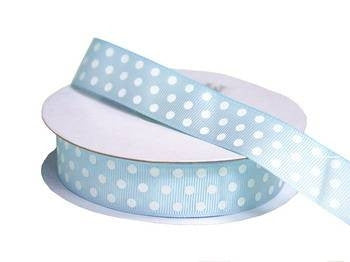 "7/8"" Polka Dot Ribbon-Blue"