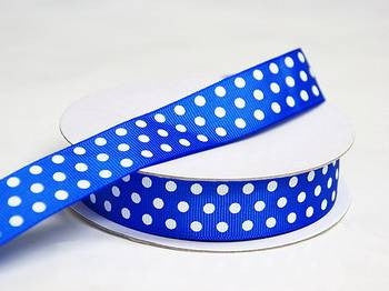 "7/8"" Polka Dot Ribbon-Royal"