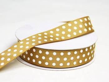 "7/8"" Polka Dot Ribbon-Chocolate"