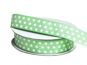 "7/8"" Polka Dot Ribbon-Sage"