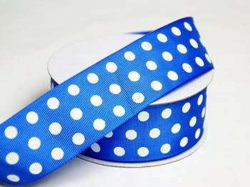 "25 Yards 1.5"" DIY Royal Blue Grosgrain Polka Dot Ribbon Wedding Party Dress Favor Gift Craft"