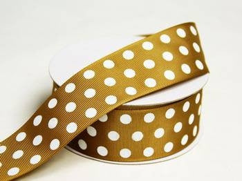 "25 Yards 1.5"" DIY Chocolate Grosgrain Polka Dot Ribbon Wedding Party Dress Favor Gift Craft"