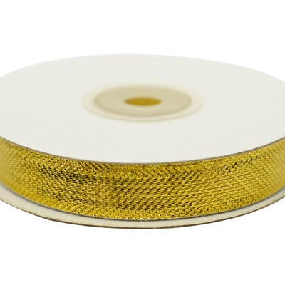 "Metallic Design Ribbon 5/8"" x 25yds - Shiny Gold"