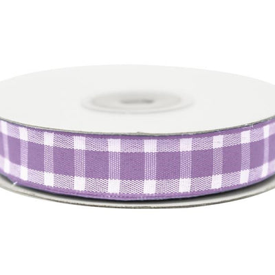 "Divergent Gingham Ribbon 5/8"" x 25yrds per roll-Lavender"