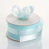 "1.5"" x 10 Yards Organza Ribbon With Satin Center - Light Blue"