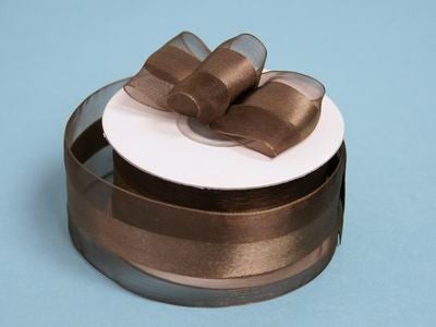 "10 Yards 1.5"" DIY Chocolate Satin Center Ribbon For Craft Dress Wedding"