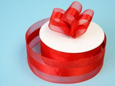 "10 Yards 1.5"" DIY Red Satin Center Ribbon For Craft Dress Wedding"