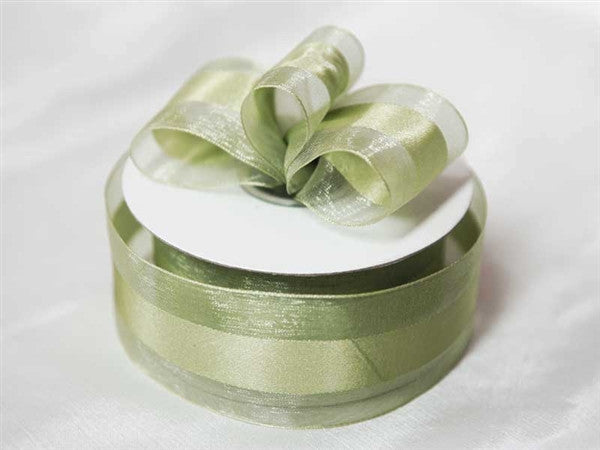 "10 Yards 1.5"" DIY Moss/Willow Satin Center Ribbon For Craft Dress Wedding"