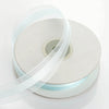 "7/8"" x 25 Yards Organza Ribbon With Satin Center - Light Blue"
