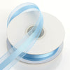 "7/8"" x 25 Yards Organza Ribbon With Satin Center - Serenity Blue"