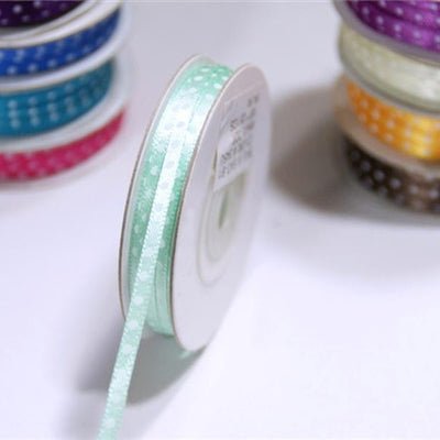 "1/8"" Satin Polka Dot - Mint"