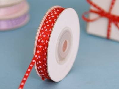 "1/8"" Satin Polka Dot - Red"