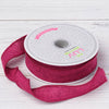 "7/8"" x 10 Yards Fushia Burlap Ribbon"