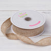 "7/8"" x 10 Yards Natural Tone Burlap Ribbon"