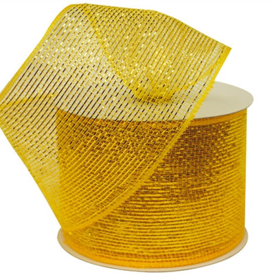 "What a MESH! 4"" x 25yards Shiny Ribbons Gold"