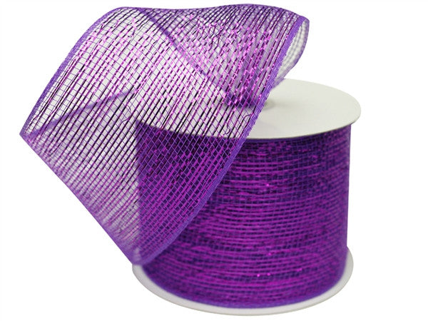 "What a MESH! 4"" x 25yards Shiny Ribbons Purple"