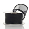 "1.5"" x 10 Yards Organza Ribbon With Wired Edge - Black"