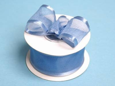 "10 Yards 1.5"" DIY Periwinkle Organza Ribbon With Wired Edged For Craft Dress Wedding"