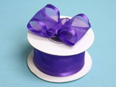 "10 Yards 1.5"" DIY Purple Organza Ribbon With Wired Edged For Craft Dress Wedding"