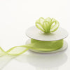 "7/8"" x 10 Yards Organza Ribbon With Wired Edge - Apple Green"