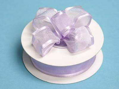 "7/8""x10yd Wired Organza Ribbon - Lavender"
