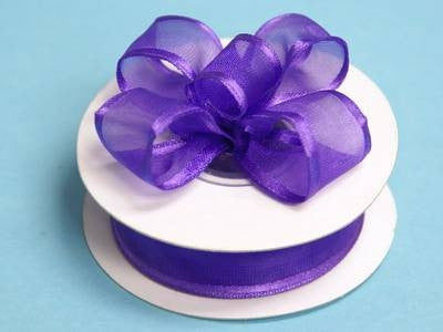 "7/8""x10yd Wired Organza Ribbon - Purple"