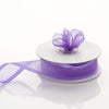 "7/8"" x 10 Yards Organza Ribbon With Wired Edge - Purple"
