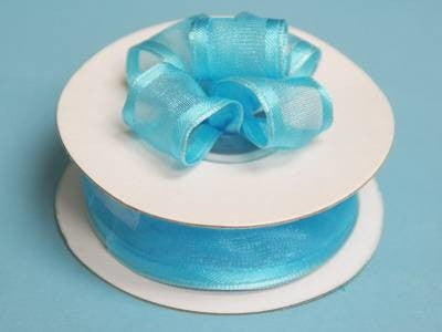 "7/8""x10yd Wired Organza Ribbon - Turquoise"