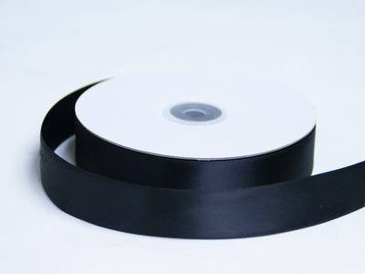 "1"" Double Face Satin Ribbon-Black"