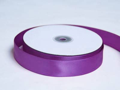"1"" Double Face Satin Ribbon-Eggplant"