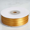 "1/8"" x 100 Yards Solid Satin Ribbon - Gold"
