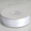 "1/8"" x 100 Yards Solid Satin Ribbon - White"